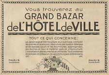 W5573 Grand Bazar de l' Hotel de Ville - Horticulture - Pubblicità 1928 - Advert