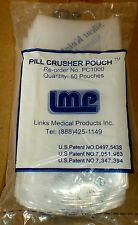 MEDICINE SILENT NIGHT LMP PRESCRIPTION DRUG PILL CRUSHER POUCHES 100 REUSABLE