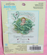 New Janlynn Cabbage Patch Baby Birth Announcement Cross Stitch Kit Ladybugs