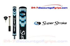 Superstroke Flatso 2.0 putter grip with counter core - Midnight Blue