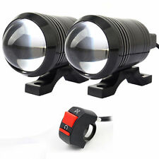 Super Bright Motorcycle 12-80V Cree U1 Laser Headlight LED Spot Fog Light Switch