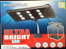 BeamsWork LED Clamp/Clip on 1W x9 white 6500K 30cm fish planted Aquarium Light