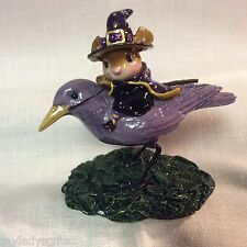 """WEE FOREST FOLK VERY RARE LIVE CHARITY AUCTION THE RAVEN RED EYE """"PURPLE"""" BIRD"""