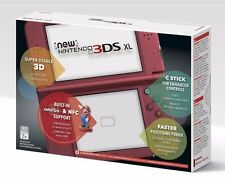 Nintendo New 3DS XL (REDSRAAA) Game Console - Red | Newest Version NIB