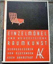 Einzelmöbel und neuzeitliche Raumkunst BAUHAUS ART DECO DESIGN FURNITURE 1930
