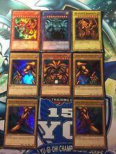 Yu-Gi-OH GÖTTERKARTEN+ EXODIA SET SLIFER, OBELISK, RA ,UR 1.AUFL+LIM.AUFLAGE  DE