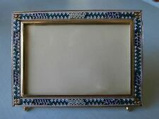 GREAT INTRICATE DESIGN ANTIQUE FLORAL MICRO MOSAIC PICTURE FRAME EASEL BACK