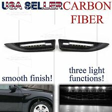 FOR BIMMERS! FENDER GRILLE SIDE MARKER AMBER SIGNAL PARKING PUDDLE LIGHTS CARBON