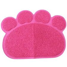 Hot Pet Dog Puppy Cat Dish Bowl Feeding Food Litter Tray Mat Clean Paw Shape FI