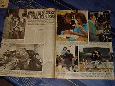 FABRIZIO DE ANDRE '  clipping articolo foto photo 1972