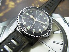 Vintage Mortima Super Datomatic Diver French watch Original Strap.