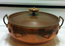 Vintage Copper Pot Pan Serving Dish Tin Lined Cookware Kitchenware Home Decor