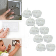 10* Baby Socket Shock Safety Plug Covers Child Protection Electrical Plugs Mains