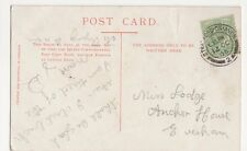 Miss Lodge, Anchor House, Evesham 1905 Postcard, B153