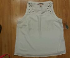 Forever 21 White Dress tank top size L
