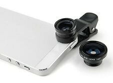 Universal 3 in 1 Macro Fisheye Wide Angle mobile Smartphone Universal Lens clip
