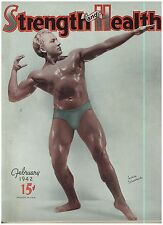 Jan  Feb. 1942  Issue of Strenght & Health Magazine Beefcake