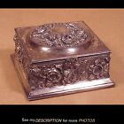 Ornate Silver Plate Pairpoint Jewel Casket / Box
