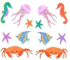 ~ Retired NLA Opalescent Crab Seahorse Fish Jelly Fish Mrs Grossman Stickers ~