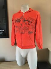 LADIES / WOMANS / GIRLS BILLABONG ORANGE ZIP HOODY HOODIE SIZE SMALL