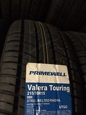2 NEW PRIMEWELL VALERA TOURING 215 70 15 BL Tires 215 70 15