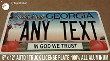 Georgia PEACH TREE Custom Personalized state License Plate -  AUTO  6 x 12  GA