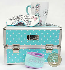 Mary Kay Good Morning Doll Set: Aluminum Cosmetic Organizer + Cup + Hairband
