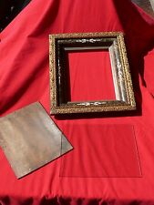 ANT Victorian PICTURE FRAME 3 Tiers Gilded-East Lake-Pattern w Wood Back & Glass