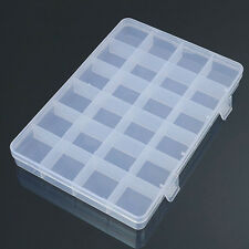 24 Compartments Plastic Box Case Jewelry Bead Storage Craft Organizer Remarkable