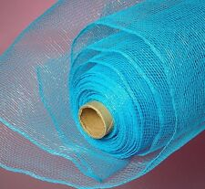 Deco Mesh Turquoise 21 inch 10 Yards Solid color  NEW Wreath & Craft