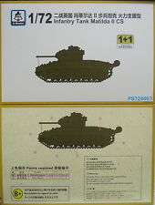 Infantry Tank Matilda II CS, 1/72, S-Model ,Double pack, Plastic Etching share