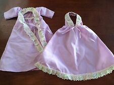 Barbie Purple Night Gown with Robe - Hand Made Barbie Doll Outfit Vintage