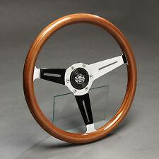 Holzlenkrad Sportlenkrad Holz Chrom 350mm Nabe BMW E24 E28 E30 E32 E34 Z1 NEU