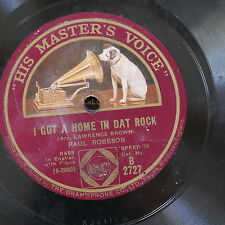 78 rpm PAUL ROBESON i got a home in dat rock / witness