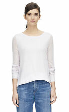 Rebecca Minkoff Textured Block high-low hem sweater in Polari XS $295 NWT