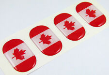"Canada midi domed decals flag 4 emblems 1.5""x1"" Car bike laptop phone stickers"