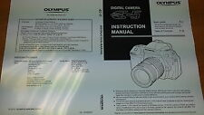 OLYMPUS E-5 DIGITAL CAMERA PRINTED INSTRUCTION MANUAL USER GUIDE 171 PAGES