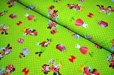 COTON DISNEY MICKEY MOUSE MINNIE étoffe tissu design 0,5 m x 1,4 m