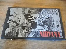 Rare Nirvana Bleach & Nevermind  CD wood wooden Box set Kurt Cobain Foo Fighters