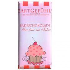 (16,61€/100g)Aber bitte mit Sahne Erdbeere/Vanille Badeschokolade Zartgefühl 90g