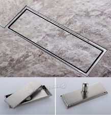 High quality Stainless Steel 300MMx110MM 304 Bathroom Shower Square Floor Drain