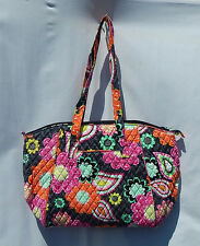 VERA BRADLEY LARGE TRAVEL TOTE PURSE BAG in ZIGGY ZINNIA - NWT & Smoke Free Hm