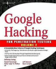 Google Hacking for Penetration Testers: For Penetration Testers: vol. 2 by...