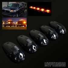 Smoked/Amber LED Cab Roof Running Marker Lights Lamps Wiring+Switch Complete Kit