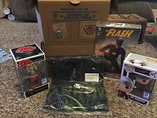 FUNKO POP! DC LEGION OF COLLECTORS BOX SET ALL 6 EXCLUSIVE ITEMS LARGE SHIRT