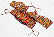 BANJARA MIRROR TRIBAL ETHNIC KUCHI BELLY DANCE OLD INDIAN COIN CHOLI TOP ATS