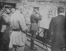 "US Army General John Pershing at Lafayette's Tomb World War 1, 5x4"" Photo a"
