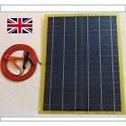 Very Light 20w Solar Panel 650g 12v Charger c/w 4m cable Block Diode & Clips UK