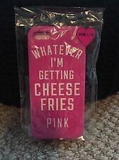 PINK VICTORIAS SECRET IPHONE 5/5S CHEESE FRIES SILICONE PHONE CASE BNWT
