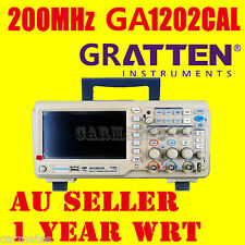 "ATTEN OSCILLOSCOPE Scope GA1202CAL 200MHz 2Ch 1GS/s 7"" LCD Screen USB METER AU"